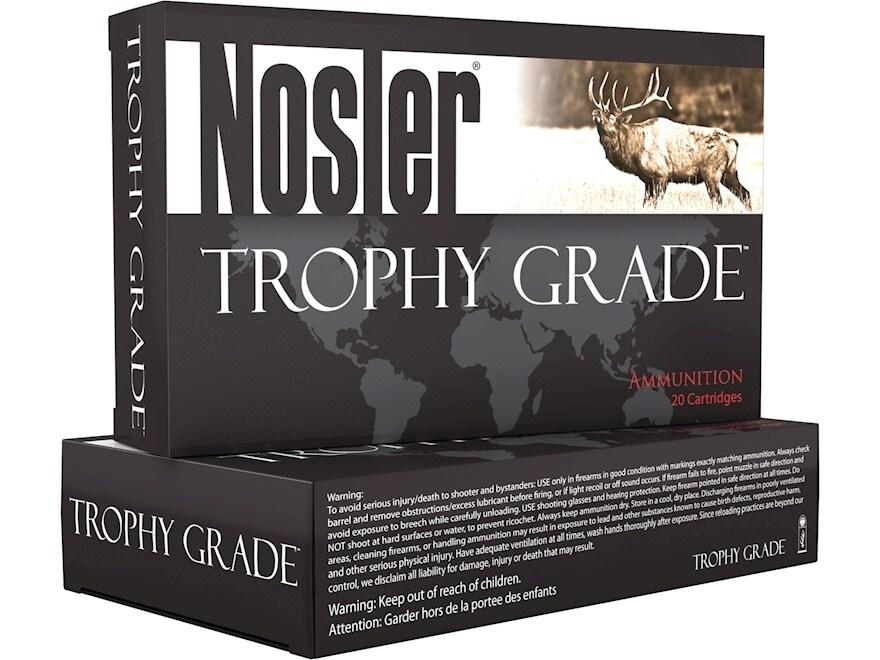 Nosler Trophy Grade Ammunition 22 Nosler 70 Grain Accubond Box of 20