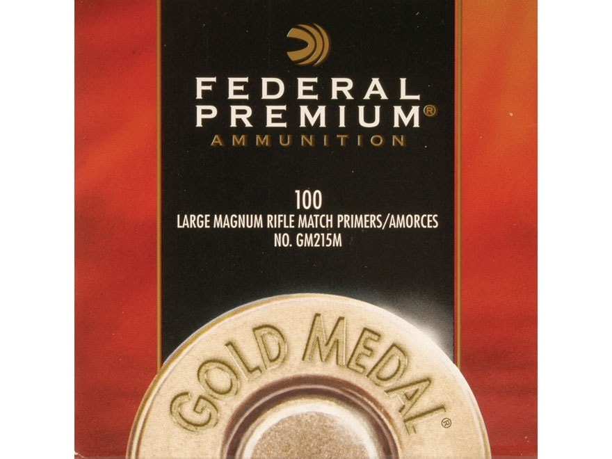 Federal Premium Gold Medal Large Rifle Magnum Match #215M Primers