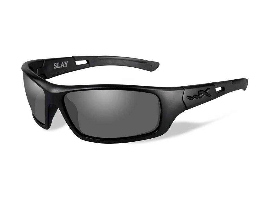 Wiley X Slay Polarized Sunglasses Gloss Black Frame Smoke Gray Lens