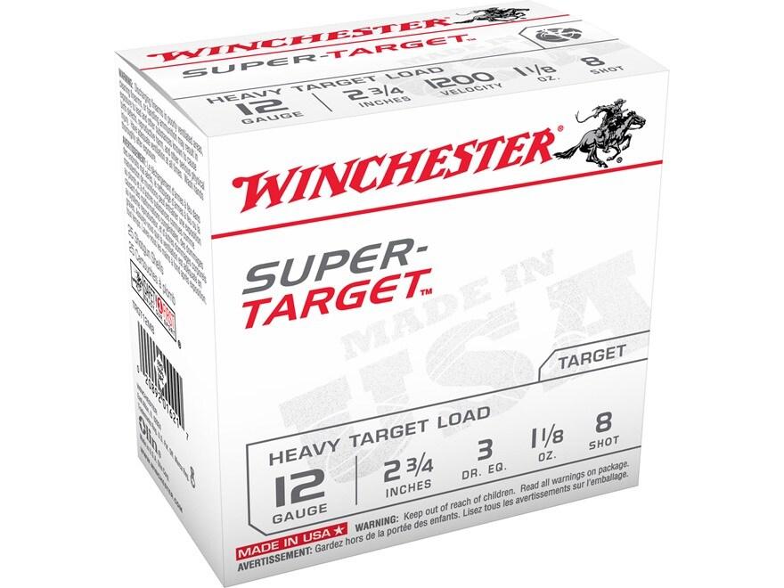 """Winchester Super-Target Ammunition 12 Gauge 2-3/4"""" 1-1/8 oz #8 Shot"""
