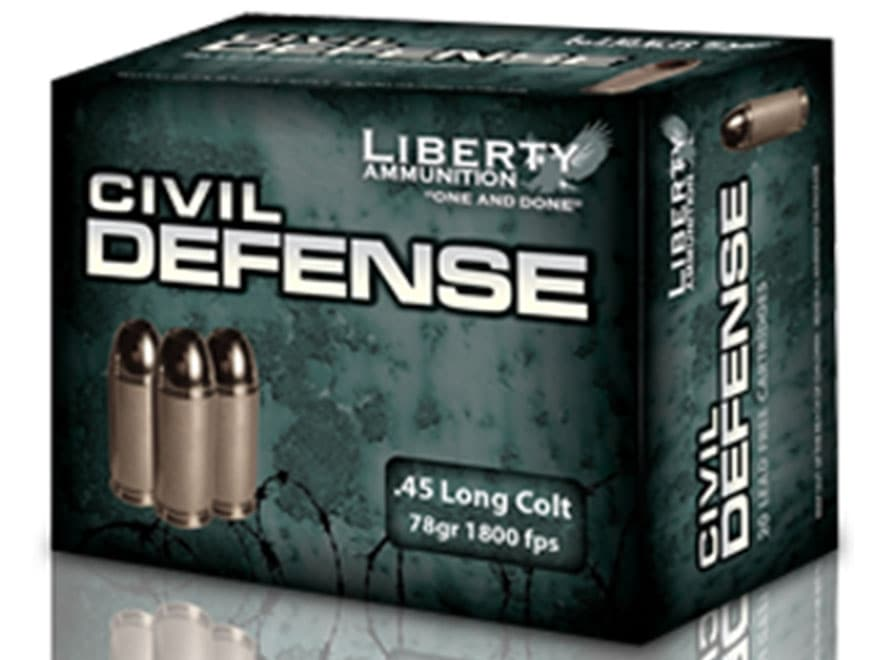 Liberty Civil Defense Ammunition 45 Colt (Long Colt) 78 Grain Fragmenting Hollow Point ...