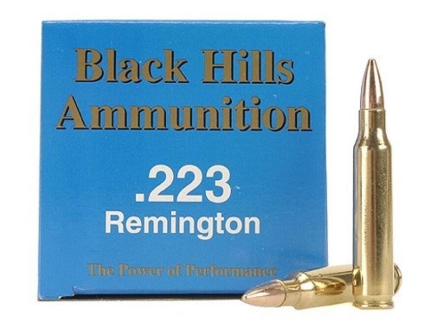 Black Hills Remanufactured Ammunition 223 Remington 55 Grain Full Metal Jacket Box of 50