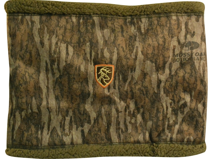 Drake Non-Typical Sherpa Silencer Neck Gaiter Polyester Mossy Oak Bottomland Camo