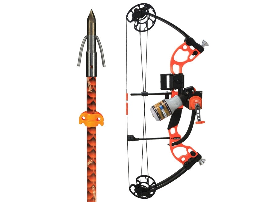 AMS The Juice Bowfishing Bow Package with Retriever Pro Tournament Series Reel 15-50 lb...