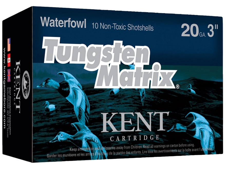 """Kent Cartridge Tungsten Matrix Waterfowl Ammunition 20 Gauge 3"""" 1-1/8 oz #3 Tungsten No..."""