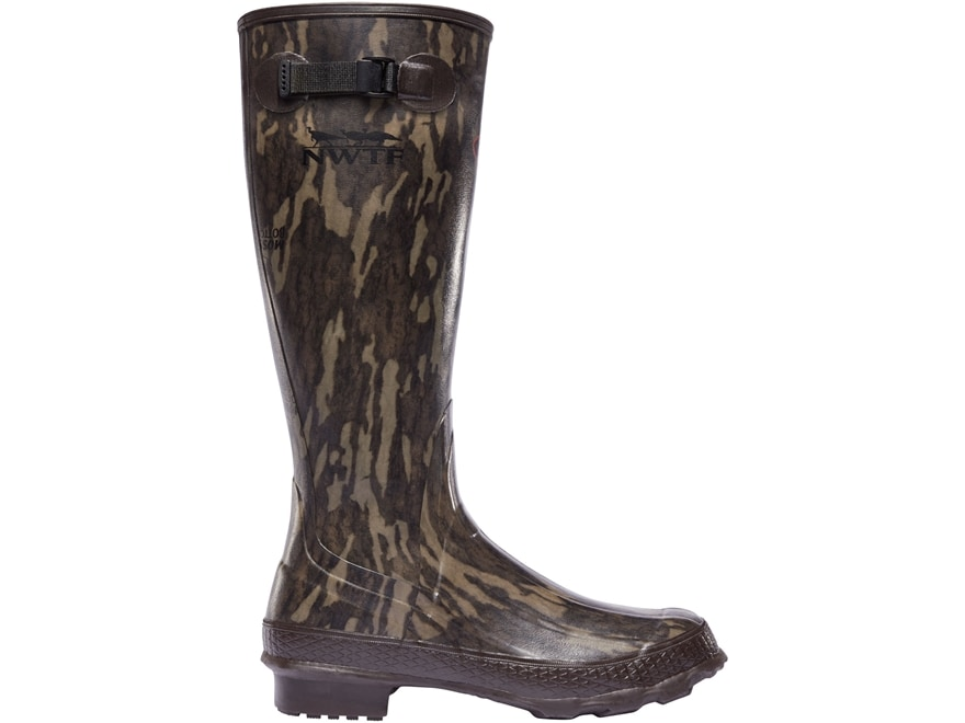 "LaCrosse Grange NWTF 18"" Waterproof Hunting Boots Rubber Mossy Oak Original Bottomland ..."