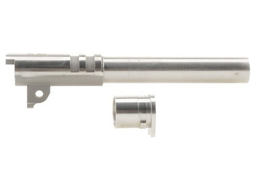 """Briley Prefit Barrel with Bushing 1911 Government 45 ACP 1 in 16"""" Twist 5"""" Stainless Steel"""