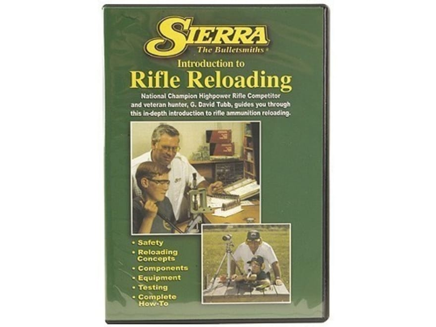 """Sierra Video """"Introduction to Rifle Reloading"""" DVD"""