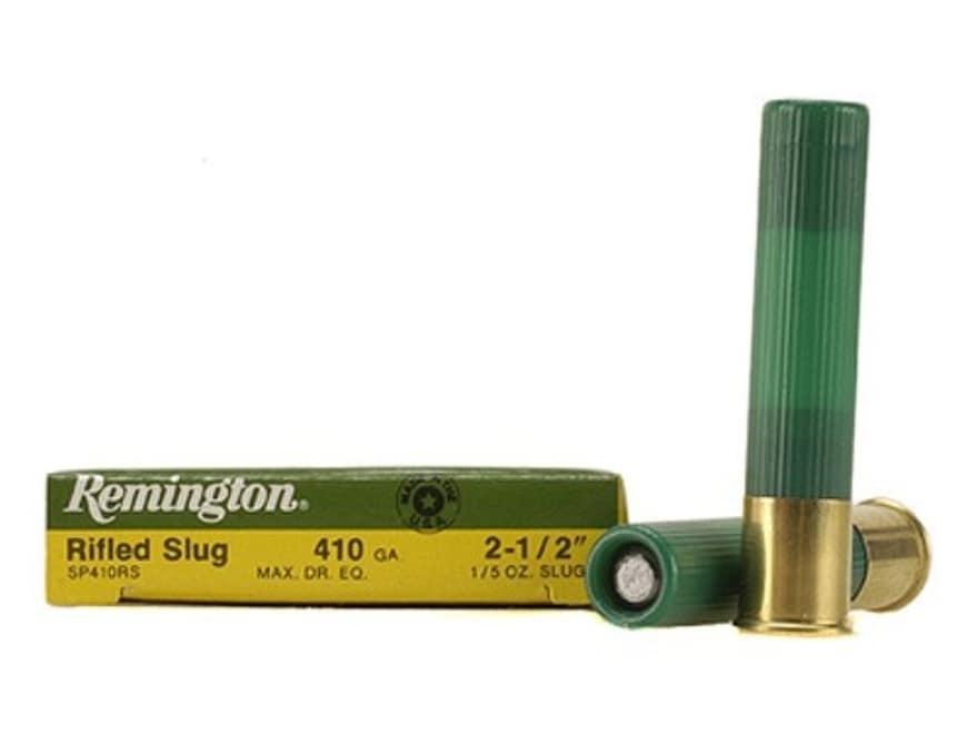 "Remington Slugger Ammunition 410 Bore  2-1/2"" 1/5 oz Rifled Slug Box of 5"