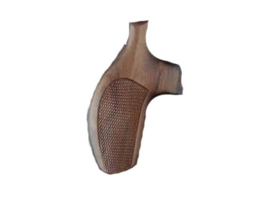 Hogue Fancy Hardwood Grips S&W J-Frame Round Butt Checkered