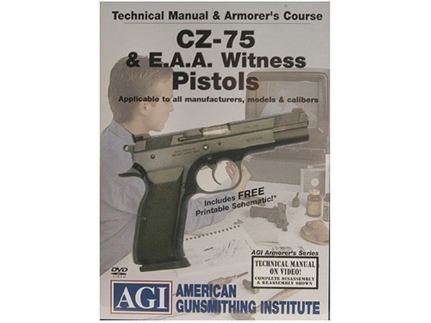 "American Gunsmithing Institute (AGI) Technical Manual & Armorer's Course Video ""CZ-75 &..."