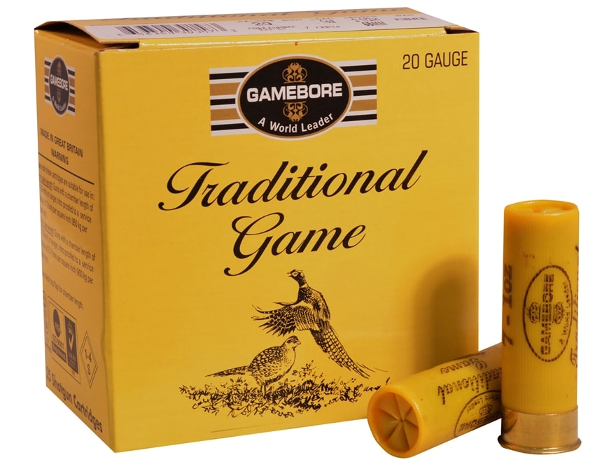 "Kent Cartridge Gamebore Game and Hunting Ammunition 20 Gauge 2-1/2"" 1 oz #6 Shot Box of 25"
