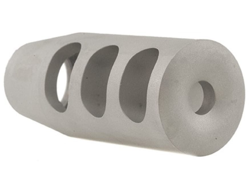 """Holland's Quick Discharge Muzzle Brake 5/8""""-28 Thread .650""""-.750"""" Barrel Tapered Stainl..."""