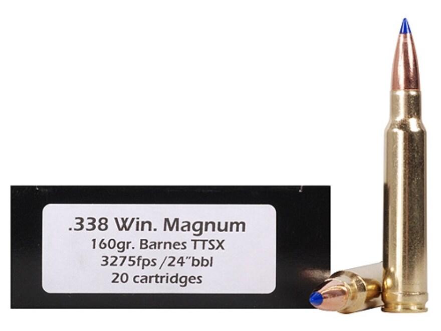 DoubleTap Ammunition 338 Winchester Magnum 160 Grain Barnes TTSX Polymer Tipped Spitzer...