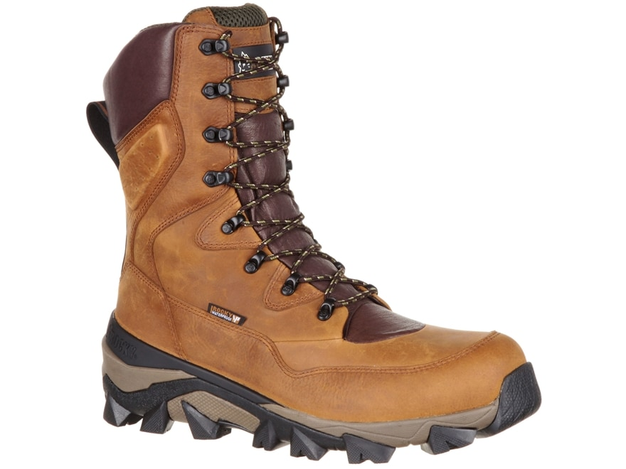 """Rocky Claw 10"""" Waterproof 400 Gram Insulated Hunting Boots Brown Leather Men's"""
