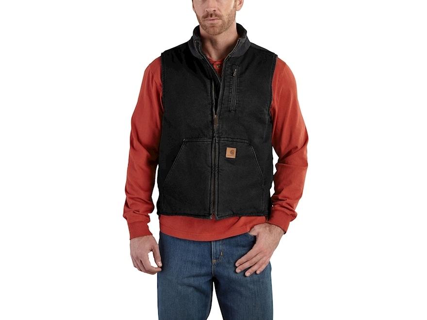 Carhartt Men's Mock Neck Lightweight Vest Cotton
