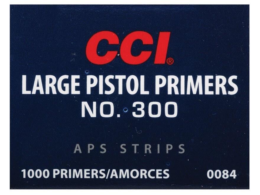 CCI Large Pistol APS Primers Strip #300