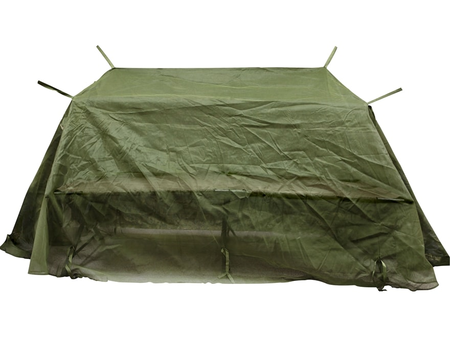 Military Surplus Mosquito Net with Poles