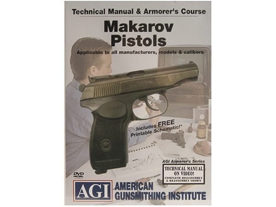 "American Gunsmithing Institute (AGI) Technical Manual & Armorer's Course Video ""Makarov..."