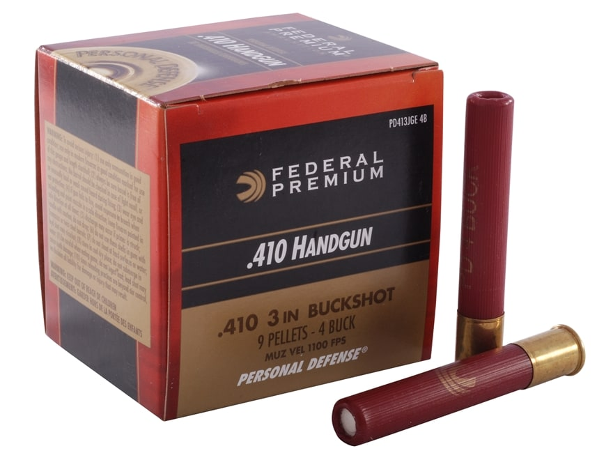 "Federal Premium Personal Defense Ammunition 410 Bore 3"" #4 Buckshot 9 Pellets"