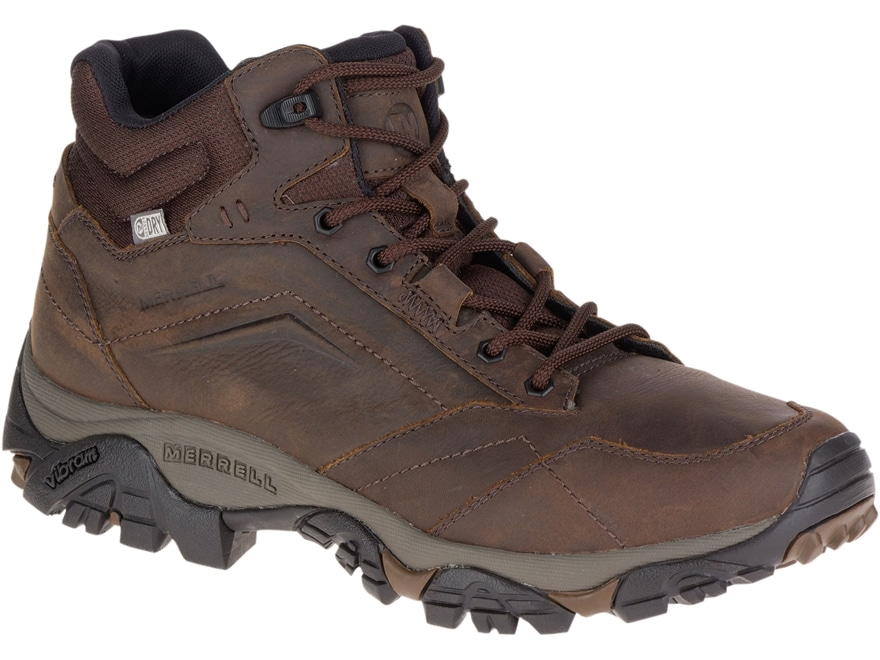 """Merrell Moab Adventure Mid 5"""" Waterproof Hiking Boots Leather/Synthetic Men's"""