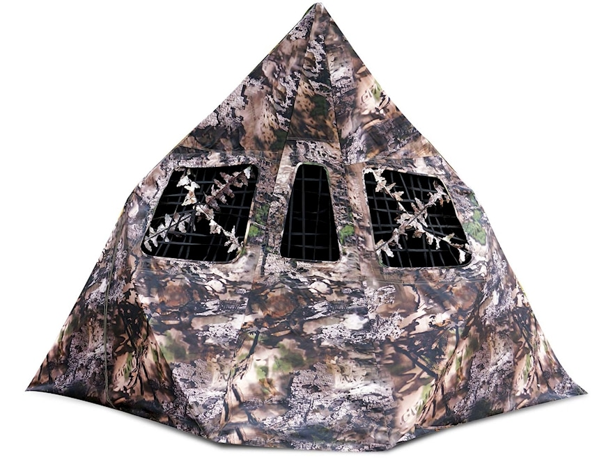 NAP Mantis 2-Hub Ground Blind Polyester Wicked Intent Camo