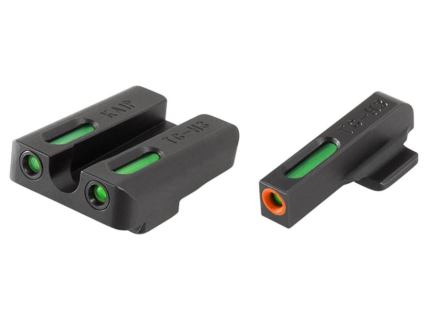 TRUGLO TFX Pro Sight Set Kahr P9, PM9, P380 Tritium / Fiber Optic Green with Orange Fro...