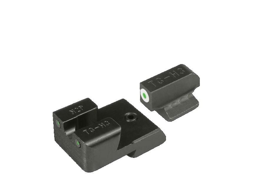 TRUGLO Tritium Pro Sight Set 1911 Commander 9mm, 40 S&W Novak Cut Tritium Green with Wh...