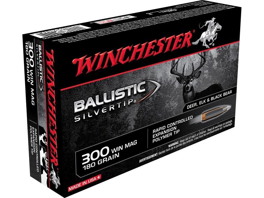 Winchester Ballistic Silvertip Ammunition 300 Winchester Magnum 180 Grain Rapid Control...