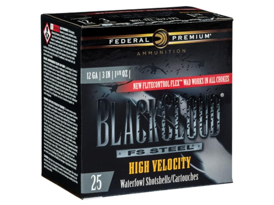 "Federal Premium Black Cloud High Velocity Ammunition 12 Gauge 3"" 1-1/8 oz BB Non-Toxic ..."