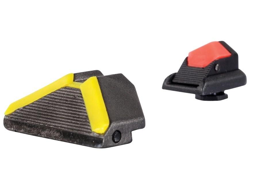 Advantage Tactical Triangular Sight Set Glock All Models Steel Blue with Interchangeabl...