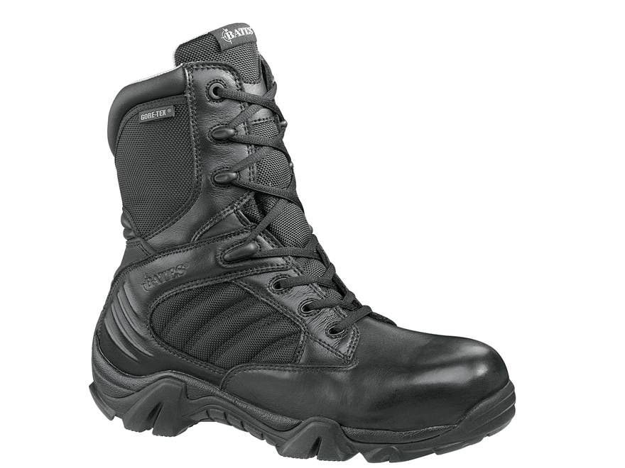"Bates GX-8 8"" Composite Safety Toe Side-Zip Waterproof GORE-TEX Tactical Boots Leather/..."