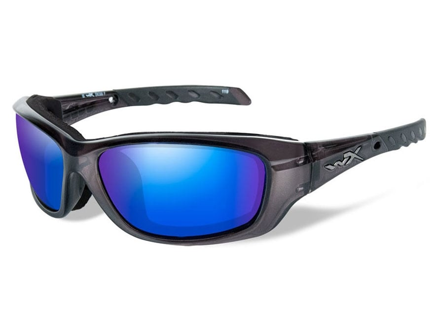 Wiley X WX Gravity Climate Control Series Polarized Sunglasses Black Crystal Frame Blue...
