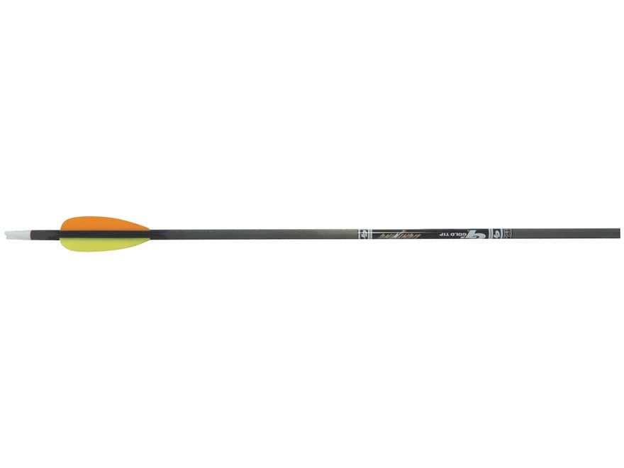 "Gold Tip Lightning Youth Carbon Arrow 2.5"" Vanes Black Pack of 3"
