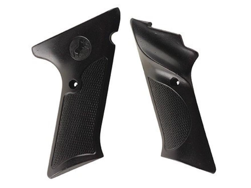 Vintage Gun Grips Colt Woodsman Late Model 22 Long Rifle with Thumbrest Polymer Black