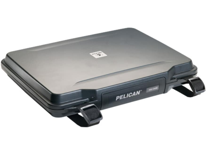 """Pelican 1085 HardBack Laptop Case with Pick-N-Pluck Foam and Carry Strap 14"""" Polymer Black"""