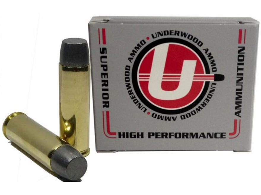Underwood Ammunition 500 S&W Magnum 500 Grain Lead Flat Nose Gas Check Box of 20