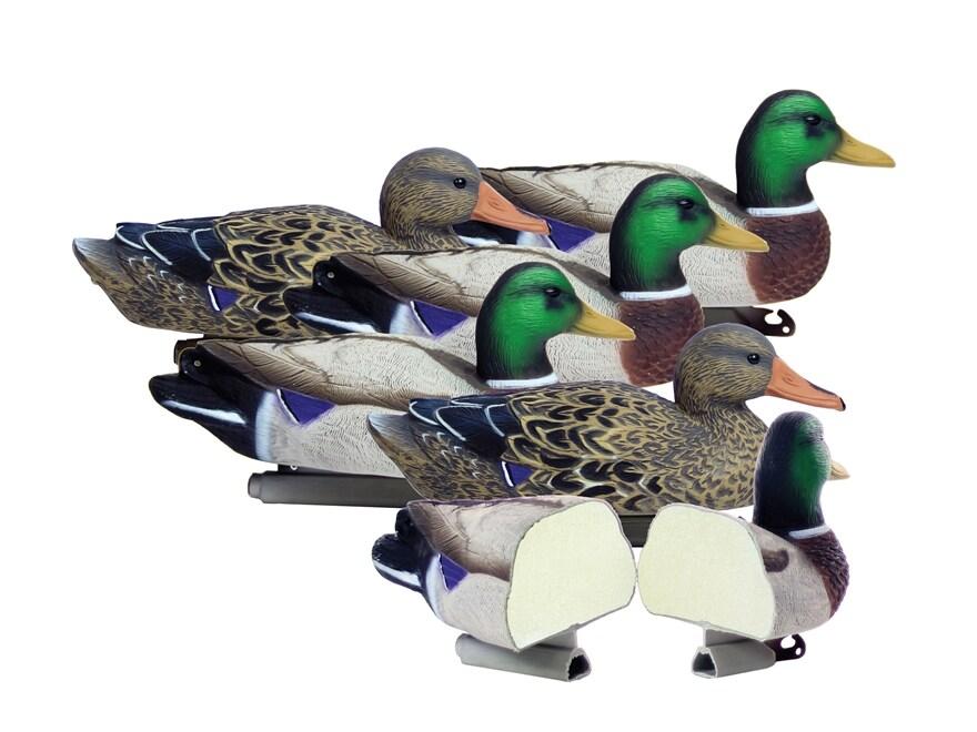 Higdon Standard Foam Filled Mallard Duck Decoy Polymer Pack of 6