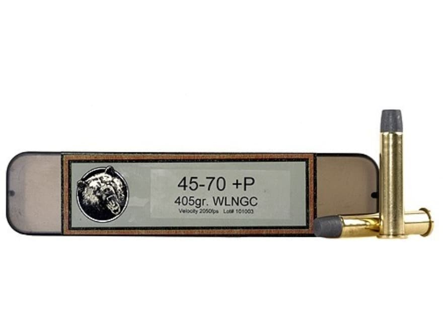 Grizzly Ammunition 45-70 Government +P 405 Grain Cast Performance Lead Wide Long Nose G...