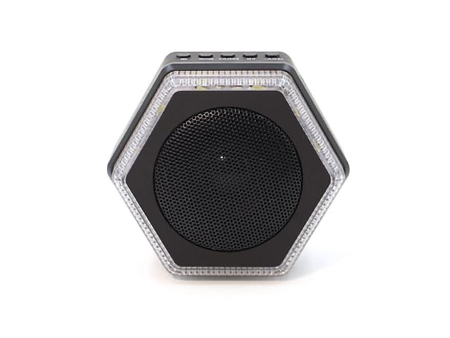 HybridLight Hex Solar Lantern with Bluetooth Speaker Rechargeable Battery Black