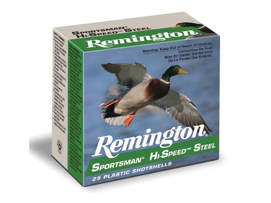 "Remington Sportsman Hi-Speed Ammunition 12 Gauge 2-3/4""  1 oz  #6 Non-Toxic Steel Shot"