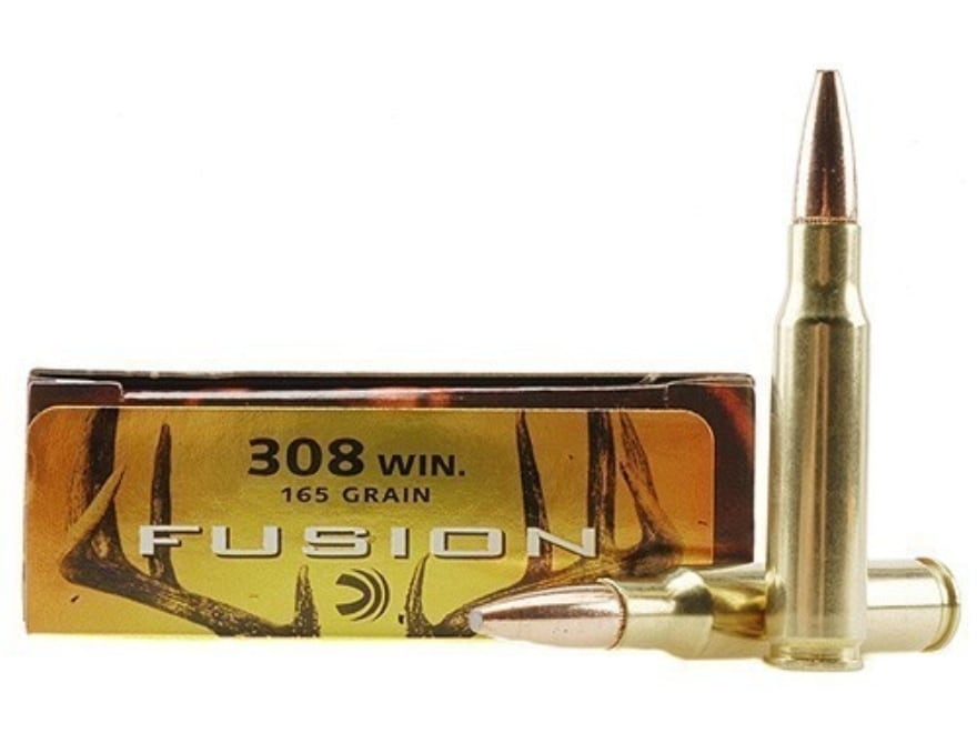 Federal Fusion Ammunition 308 Winchester 165 Grain Spitzer Boat Tail