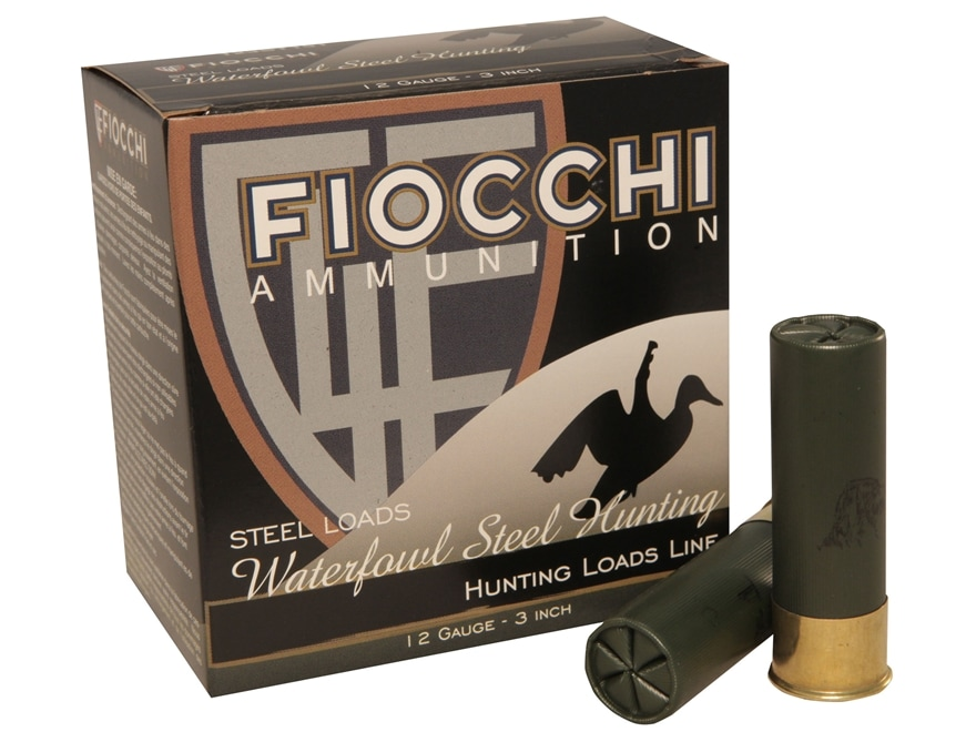 "Fiocchi 34 Speed Steel Ammunition 12 Gauge 3"" 1-1/5 oz BB Non-Toxic Plated Steel Shot B..."