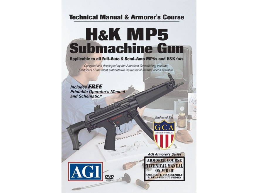 """American Gunsmithing Institute (AGI) Technical Manual & Armorer's Course Video """"H&K MP5..."""