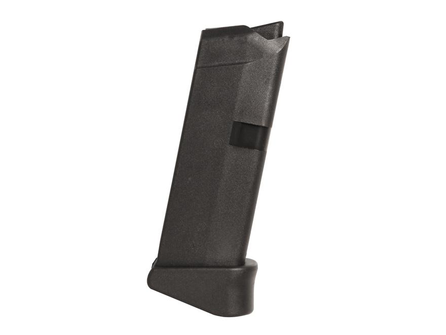 Glock Magazine Glock 42 with Extension 380 ACP 6-Round Polymer Black