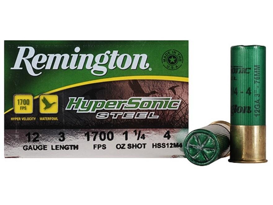 """Remington HyperSonic Ammunition 12 Gauge 3"""" 1-1/4 oz #4 Non-Toxic Shot"""