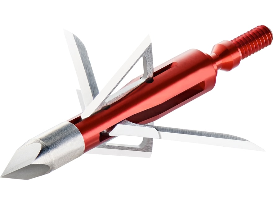 Bloodsport Nitefall Mechanical Broadhead 100 Grain Aluminum and Stainless Steel Pack of 3