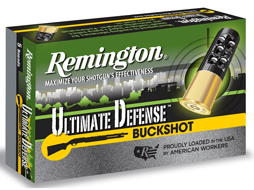"Remington Ultimate Defense Buckshot Ammunition 12 Gauge 3"" Reduced Recoil 00 Buckshot 1..."