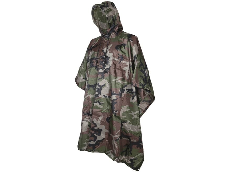 5ive Star Gear Mil-Spec Poncho Nylon Ripstop Woodland Camouflage