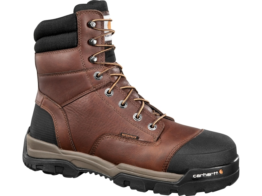 """Carhartt Energy 8"""" Waterproof Composite Safety Toe Work Boots Leather Men's"""